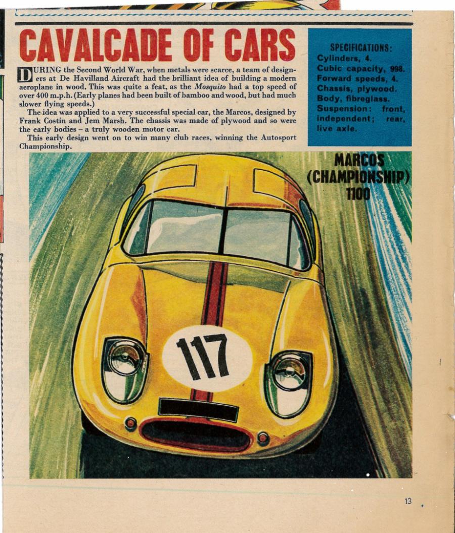 MARCOS XYLON GT G128 RACE CAR - Curiosities